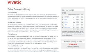 Online Surveys for Money | Vivatic
