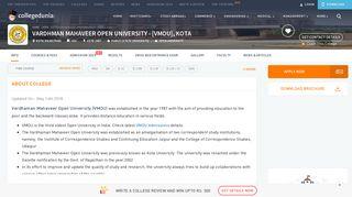 VMOU, Kota - Admission, Courses, Admit Card, Result - Collegedunia
