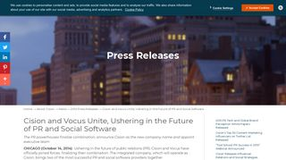Cision and Vocus Unite, Ushering in the Future of PR and Social ...