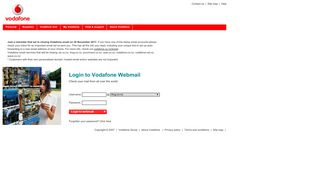 Vodafone Webmail :: Welcome to Vodafone Webmail