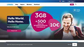 Lebara Mobile ES   Free Sim   International Calls   Prepaid Plans