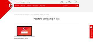 Vodafone Zambia log-in icon | Vodafone
