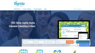 Free online sign up sheet, volunteer scheduling ... - SignUp.com