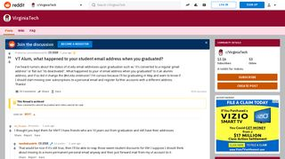 VT Alum, what happened to your student email address when you ...