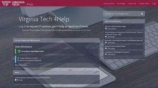 Service Portal - Service Portal - 4help.vt.edu