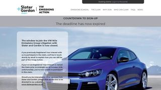 VW Emissions Action - leading the UK's legal action against the ...