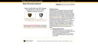 Wake Information Network: WFU