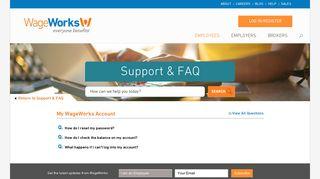 My WageWorks Account | WageWorks