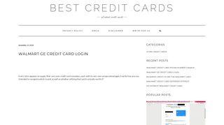 Walmart ge credit card login - Best Credit Cards