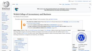 Walsh College of Accountancy and Business - Wikipedia
