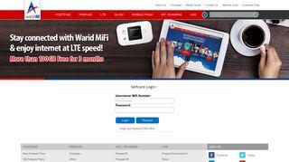 Warid Telecom :: MiFi Login