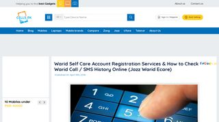 Warid Self Care Account Registration Services & How to Check Warid ...