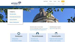 Welcome to Washington Department of Revenue   Washington ...