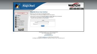 Login to Magicmail - MagicMail Mail Server - Watch Communications