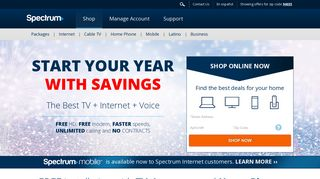 Spectrum: Internet, Cable TV, and Phone Service