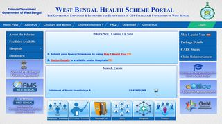 West bengal health scheme portal