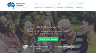 Australian College of Commerce & Management » ACCM