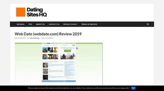 Web Date (webdate.com) Review 2019 - Dating Sites HQ