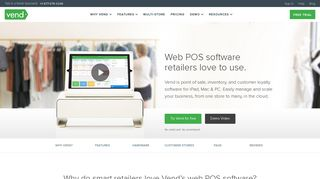 Web POS Software | Online Point of Sale Software | Vend POS