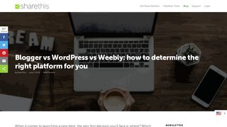 Blogger vs. WordPress vs. Weebly: How to choose the right platform ...