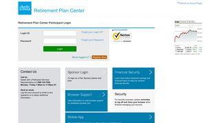 Retirement Plan Center - Login - Charles Schwab