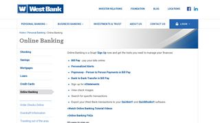 Online Banking | Personal Banking | West Bank