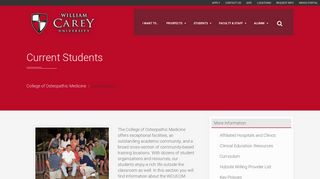 Current Students | William Carey University