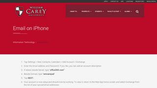 Email on iPhone | William Carey University