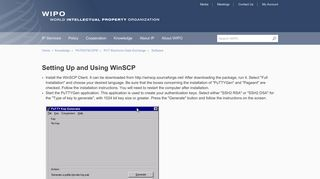 Setting Up and Using WinSCP - WIPO