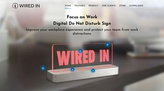 Wired In - Focus on Work with a Digital Do Not Disturb Sign