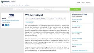 Work at WIS International | CareerBuilder