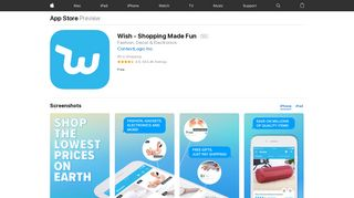 Wish - Shopping Made Fun on the App Store - iTunes - Apple