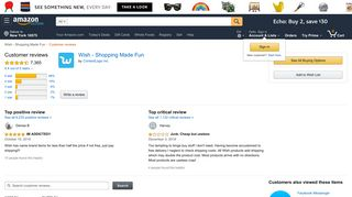 Amazon.com: Customer reviews: Wish - Shopping Made Fun