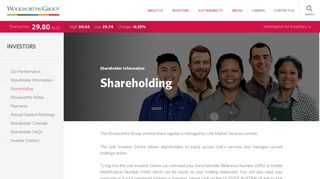 Shareholding - Woolworths Group