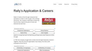 Rally's Application - Rally's Careers - (APPLY NOW)