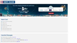NetBanking - HDFC Bank
