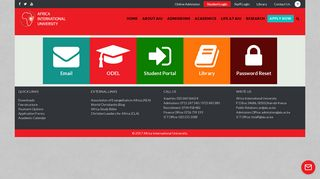 Africa International University - Student Login