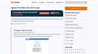 Agency Portal New York Life Ft Login