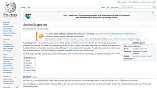 Australia.gov.au - Wikipedia