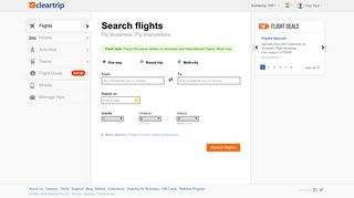 Flight bookings, Cheap flights, Lowest Air tickets @Cleartrip