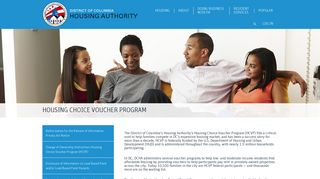 Housing Choice Voucher Program - District of Columbia Housing ...
