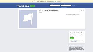 Entrar no meu face | Facebook