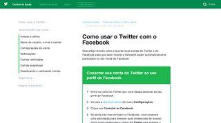 Como usar o Twitter com o Facebook