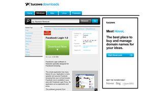 Facebook Login - Free Download - Tucows Downloads