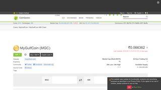 MyGulfCoin Price Chart (MGC/INR) | CoinGecko