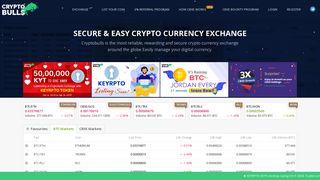 Cryptobulls Exchange | The Best Crypto Trading Exchange