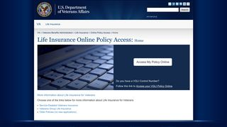 Home - Online Policy Access - Life Insurance - Veterans Benefits ...
