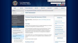 Veterans Group Life Insurance (VGLI) - Life Insurance