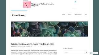 Enable Automatic Login For Jolicloud   EssayBoard