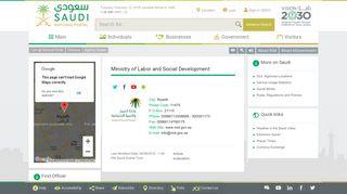 Saudi - National Portal - Ministry of Labor and Social Development